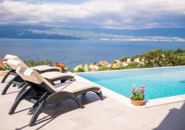 Saša - con piscina e vista panoramica sul mare