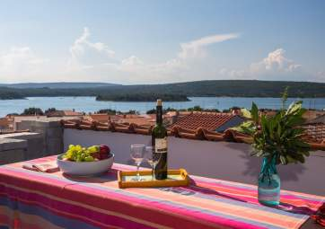 Punat 1 -  with roof terrace and amazing sea view