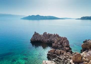 Panorama Schiffsfahrt zwischen 4 Inseln mit Schwimmen